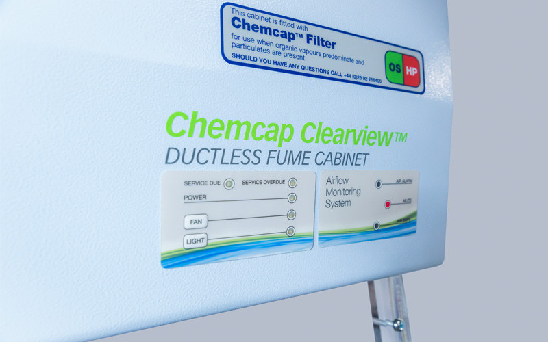 CP3000 fume cabinet close up